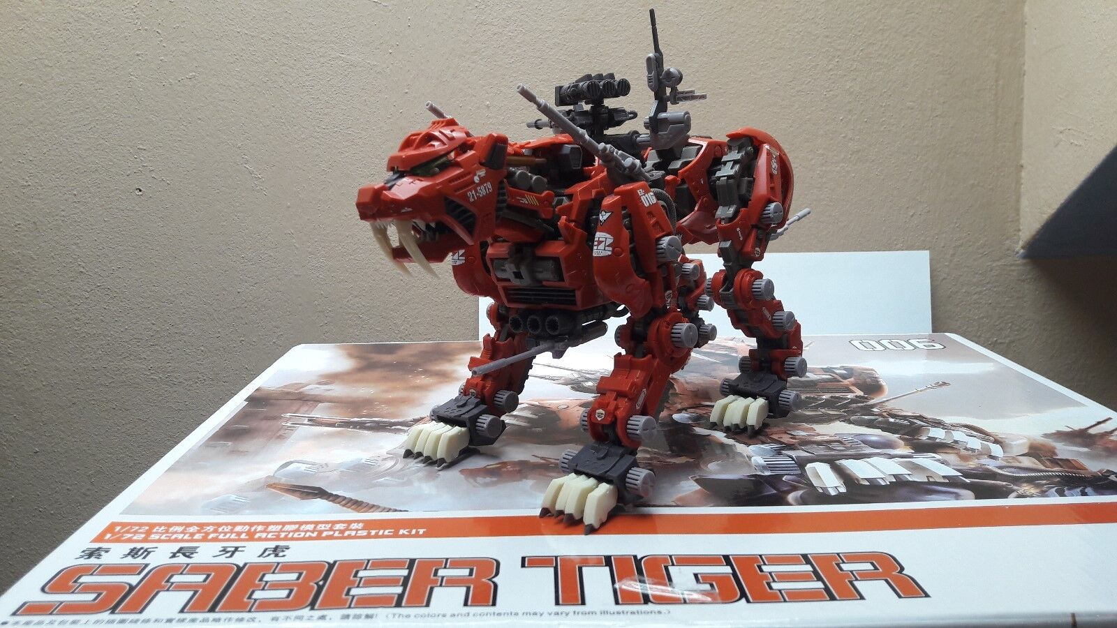Tomy Zoids Core  Saber Tiger 1 72  OVP
