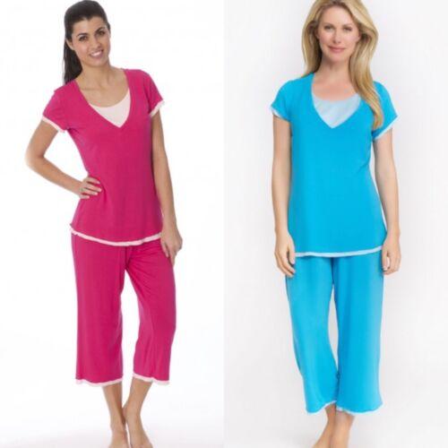 La Leche League International 2pc Nursing Pajama Set size Large ~ Choose Color!