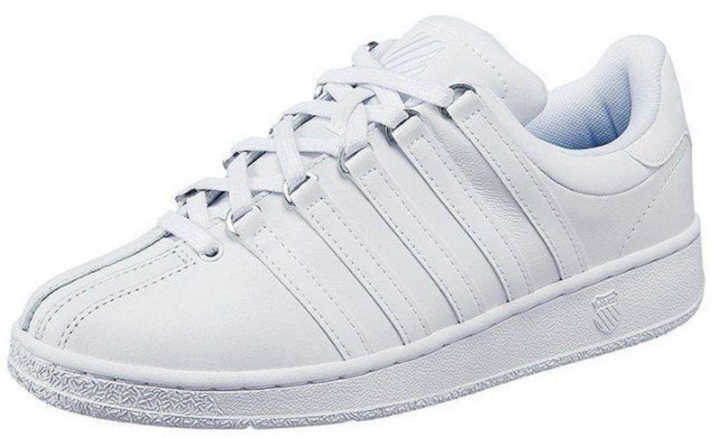 K-Swiss Classic Weiß Weiß 03343-101 Leather Men schuhe