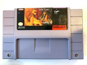 THE-LION-KING-Super-Nintendo-SNES-Cleaned-Tested-amp-Working-AUTHENTIC