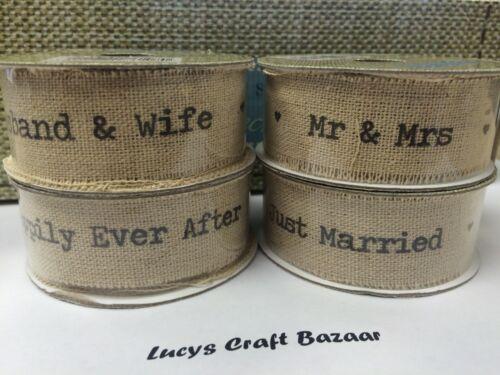neutre 1-2M x 22mm en lin naturel mariage//mariage effilochée bord ruban