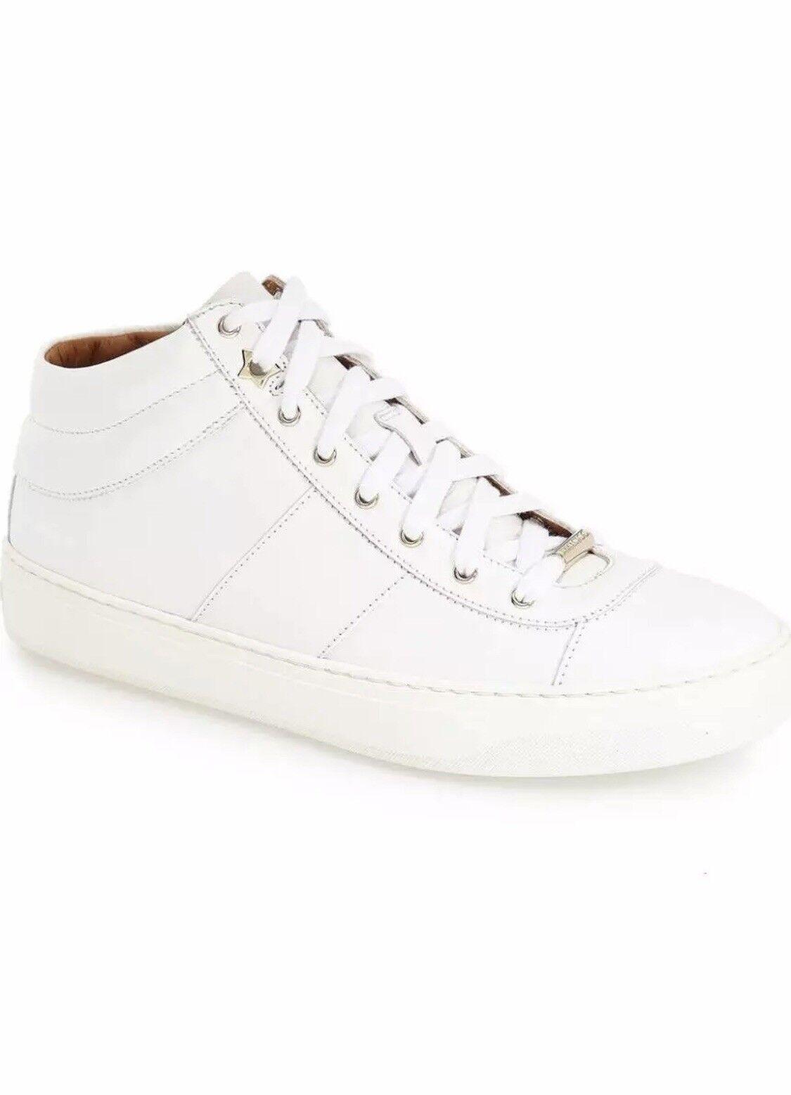 Jimmy Choo Bells, zapatillas de cuero de mediana y Alta Edad, 38,5 a 7,5 metros de Italia blancoa.