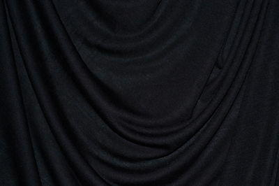 """Black Rayon Spandex Stretch Silky Knit Jersey 60"""" Wide Fabric By the Yard"""