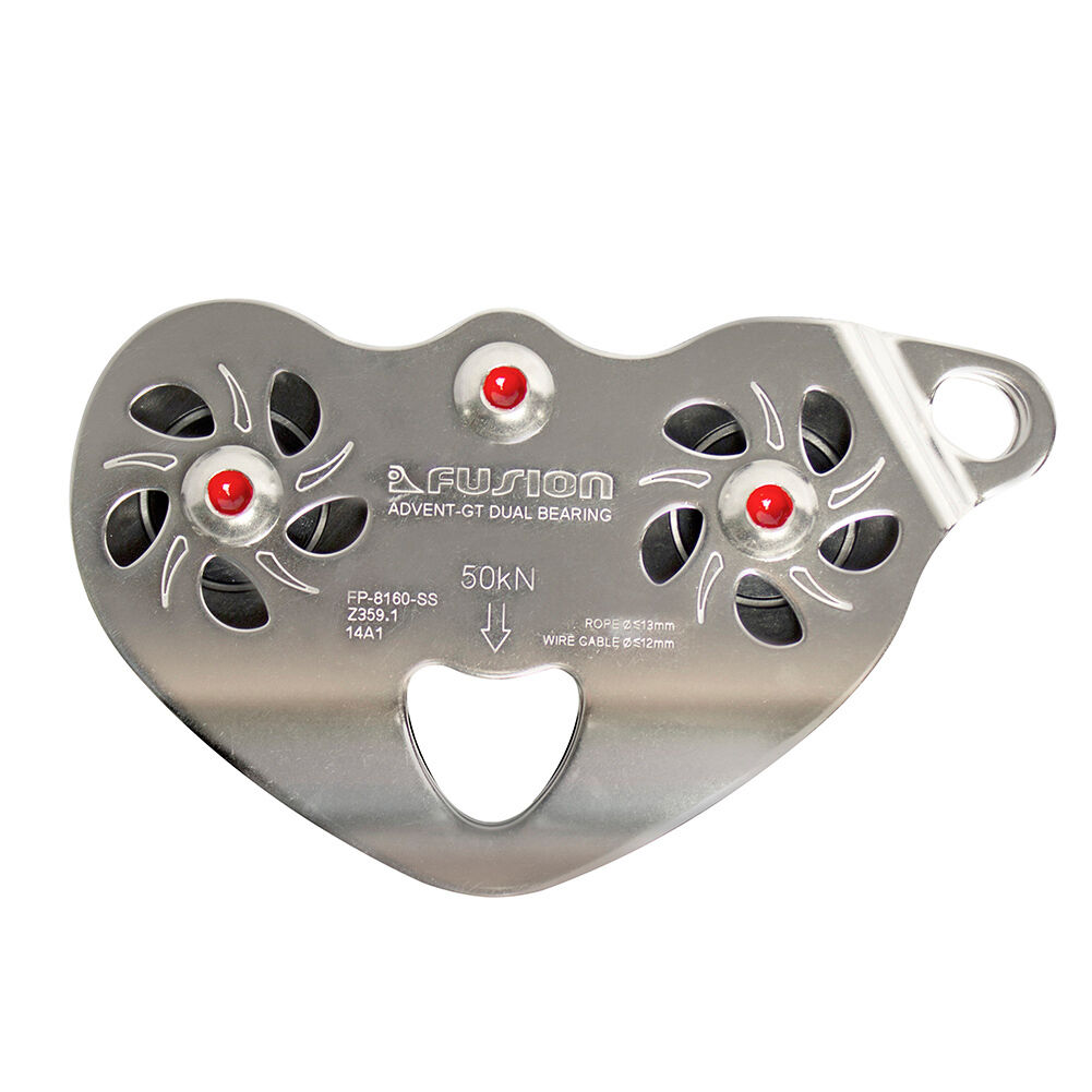 Fusion Climb Advent Speed Super Stainless Steel Pulley 50KN