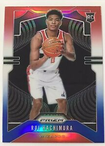 2019-20-Panini-Prizm-Rui-Hachimura-Red-White-Blue-Prizm-Variation-Rookie-Card