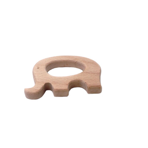 Shape DIY Wood Ring Nursing Teether Teething Holder Shower Gift Sensory Toys