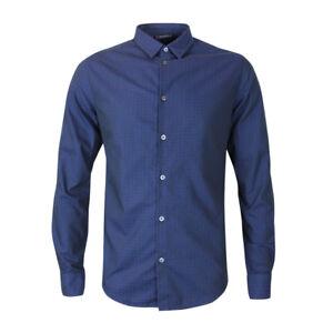 Xxl *new With Tags* Rrp £135 In Den Spezifikationen VervollstäNdigen Fantasia Navy Blu Shirt Armani Jeans
