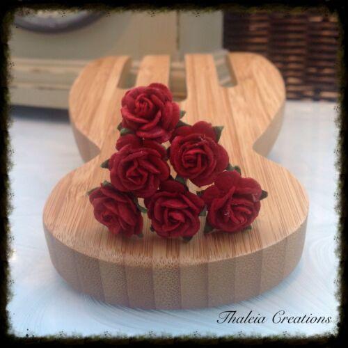DEEP RED//BURGUNDY//IVORY ROSE WEDDING HAIR ACCESSORIES*Aliceband*Comb*Pins*Grips