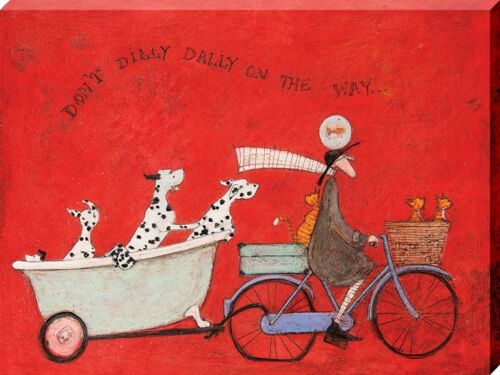 Sam Toft Print Don/'t Dilly Dally on the Way Canvas 40x30x3.8cm