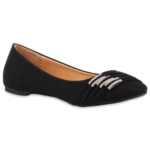 Damen Ballerinas Spitze Peep-Toes Slipper Flats 71458 Stylisch Schuhe