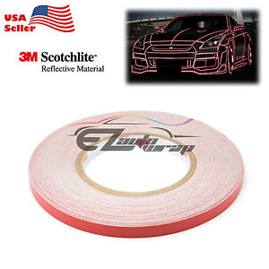 3M Red Reflective Tape Safety Self Adhesive Striping Sticker Decal 150FT Roll