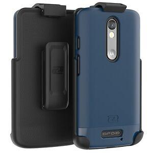 Motorola-Droid-Turbo-2-Armor-DEFENDER-Slim-Rugged-Case-Belt-Clip-Holster-Blue