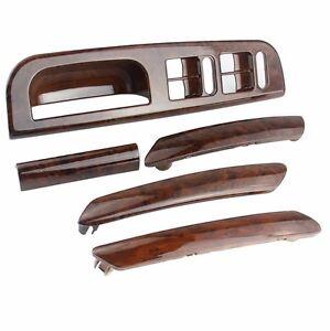 Set 5 x Wood Color Interior Door Handle Window Switch Panel Bezel VW ...