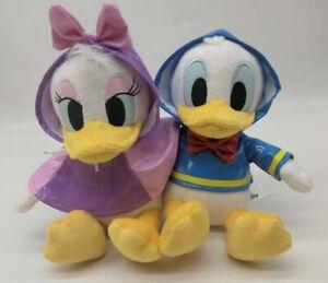 Disney Store Donald Duck And Daisy Duck Rainy Raincoat Day Plush Set