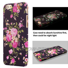 Beautiful Glowing Case 3D Flower For IPhone 6 6s 4.7'' With 2 Anti Dust Ear Cap