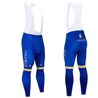 Men/'s Cycling Bib Tights Skinsuit Fleece Padded Trousers MTB Bike Long Pants