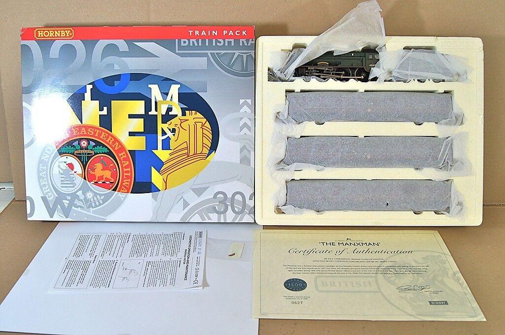 Hornby R2347M The Manxman Tren Set Pack Pullman Br Patriot Caernarvon MIB My