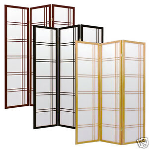 Pleasant Details About 3 Folding Panels Wood Shoji Room Divider Screen Oriental Traditional Line Option Home Interior And Landscaping Ologienasavecom