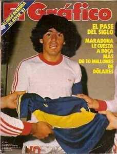 DIEGO MARADONA Goes to BOCA JUNIORS Magazine 1981 | eBay