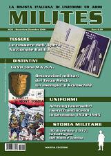 MILITES da n16 a n20 rivista militaria magazine WW2 helmet uniform badge medal