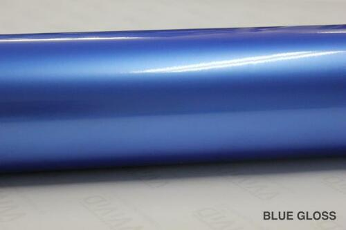 Gloss Blue Vinyl 5ft x 39ft Bubble-Free Wrap for Car Bike Boat Trailer