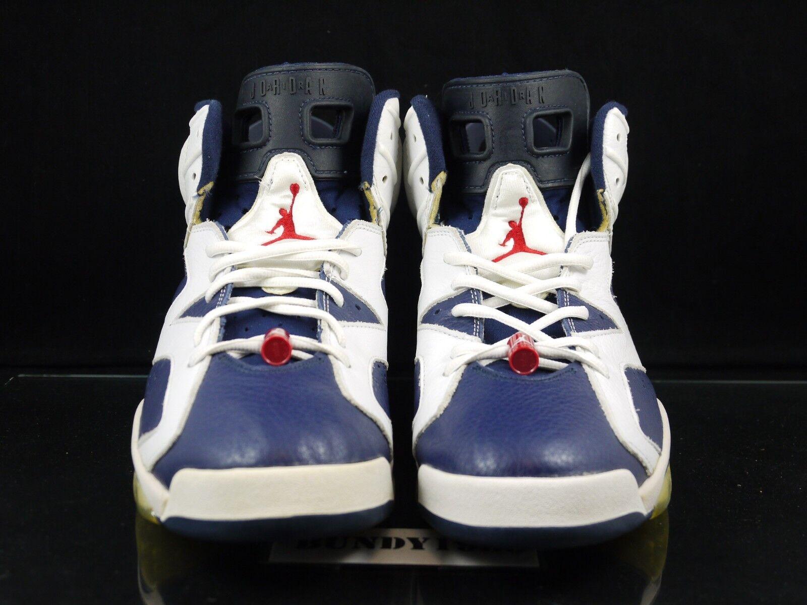 136038 461 Nike Air Jordan Jordan Jordan 6 retro Olympic 2000 SZ 12 Navy   Varsity Red sb P 57e3f5