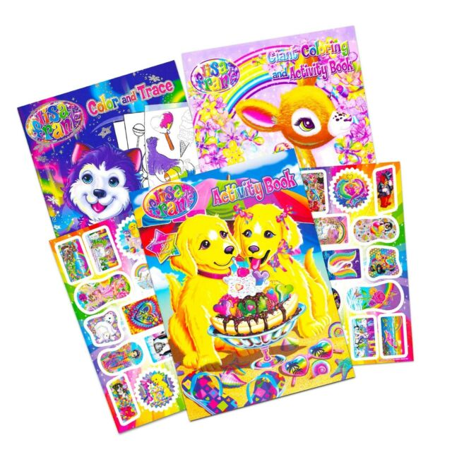 Lisa Frank Coloring Book And Stickers Super Set (3 Books With Over 30 Lisa...  For Sale Online EBay
