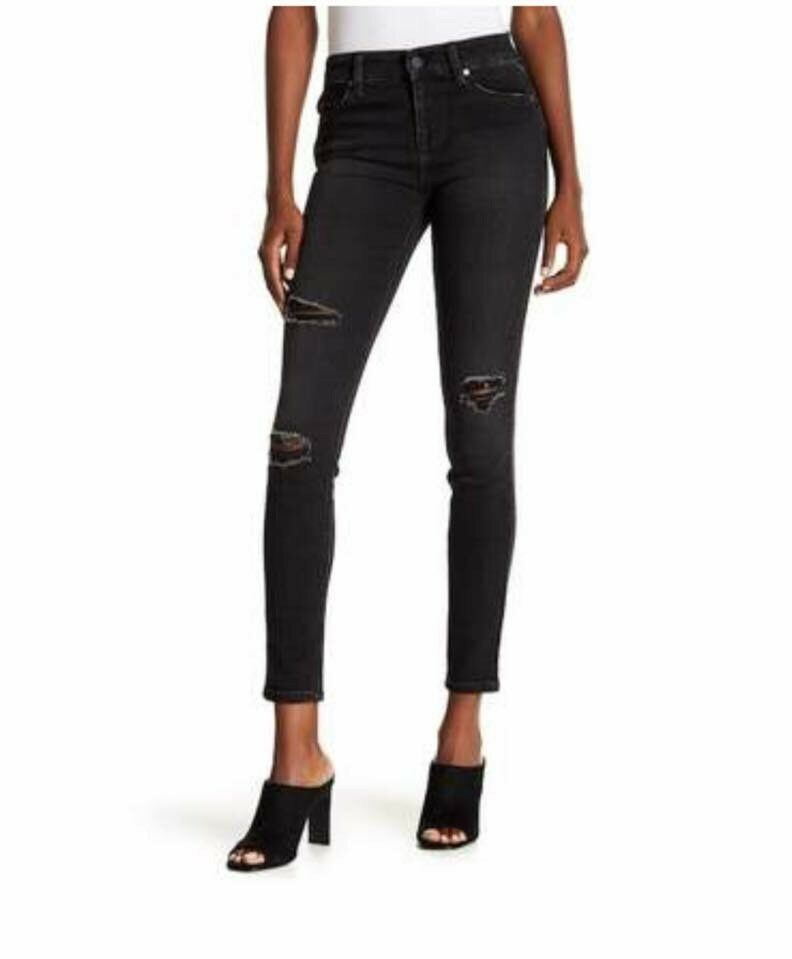 NWT LEVEL 99 ANTHRO MID RISE JANICE ULTRA SKINNY DISTRESSED JEANS
