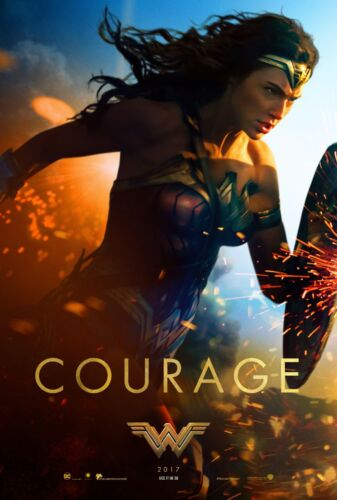 """Set of Wonder Woman Movie Silk Fabric Poster 11/""""x17/"""" 24/""""x36/"""" 3 posters"""
