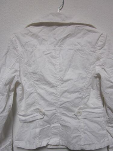 Hvid Lapel Jakke Small Romy Womens Dobbelt Wide Bomuld Coat Breasted Poplin UxY7d