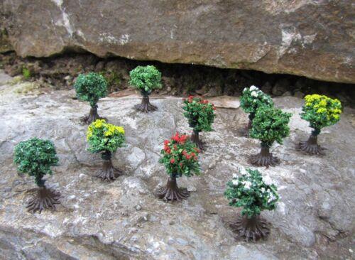 Original Jordan buissons floraison avec pieds hauteur 1,5 cm 10er Set Piste N Modélisme 9b