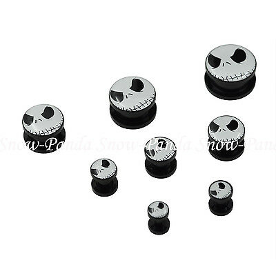 1 Pair Acrylic Screwed Ear Stretcher Expander Plugs Corpse Ear Piercing Jewelry