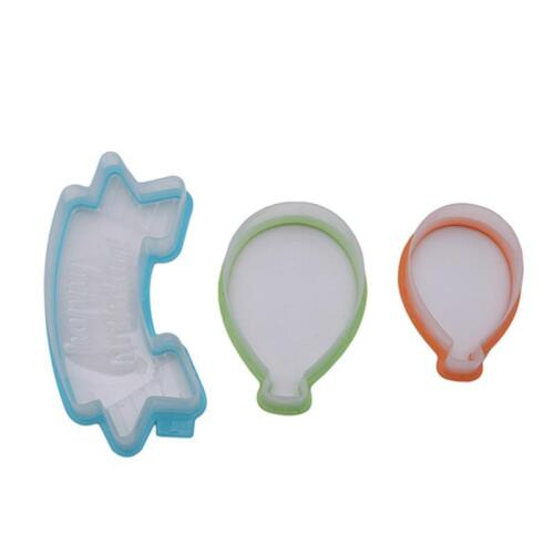 Cake 3D Balloon Cookie Cutter Tool Fondant Sugarcraft Biscuit Party Supply T