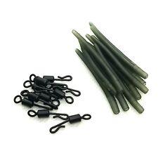 Dunkelgrün 20 Stück Karpfen Rig Crimp Cover Trace BEHR Anti Tangle Sleeves