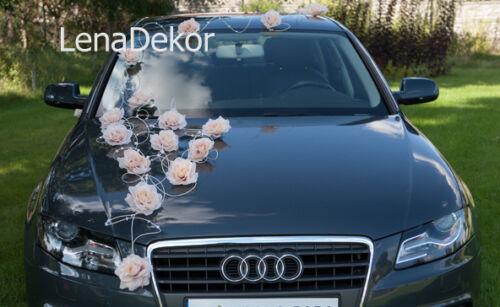 arcs laura ec//crème ruban Mariage voiture décoration prom limine décoration