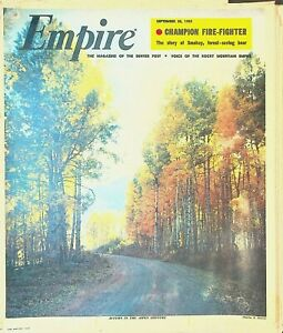 Empire Magazine September 25 1955 Smokey the Bear Joe Jancar Enoch Hoag