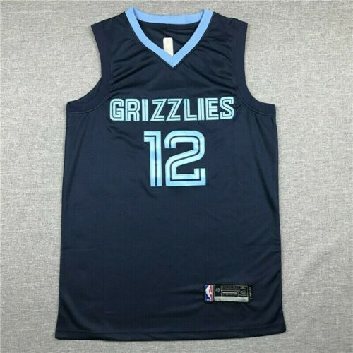 Ja Morant #12 Memphis Grizzlies Basketball Trikots Jersey Stitched Navy Blue