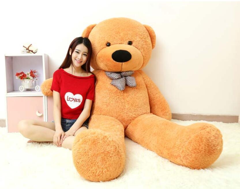 230cm brown Teddy Bear cute Huge Big Stuffed Animal Plush Soft gift birthday hot