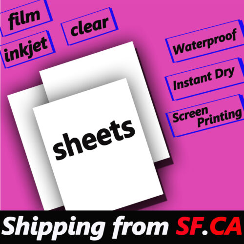 """11/"""" x 17/"""" 100 sheets,Digital Negative Inkjet Film for Contact Printing"""