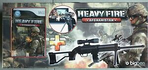Heavy-Fire-Afghanistan-Pack-jeu-Video-Nintendo-Wii-Fusil-D-039-assaut