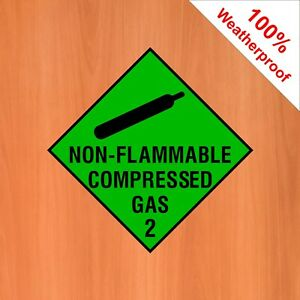 Non flammable compressed gas 2 sticker DANG022 Warning and hazard notices