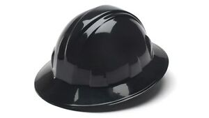 Pyramex 4 Point Full Brim Style with Ratchet Suspension - Black