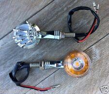 X2 Paires de Clignotants Bras de squelette Chrome  ROND - moto trike custom