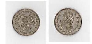 """""""un Peso 1960"""" Mexico / Mexiko - Silbermünze Um Der Bequemlichkeit Des Volkes Zu Entsprechen"""