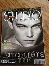 Studio Magazine Hors Série 1997- 97 l'année cinéma DiCaprio + affiche du Titanic