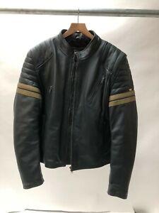 Spada-Wyatt-Leather-Motorcycle-Motorbike-Jacket-BlUE-size-42-44-LARGE