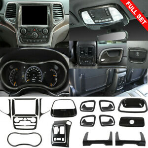 24x Carbon Fiber Interior Accessories Decor Trim for Jeep Grand Cherokee 2014 up