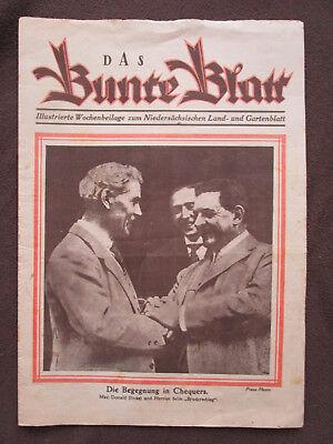 Das Bunte Blatt 1924 Ramsay Macdonald Édouard Herriot Wagner Bayreuth Wannsee