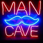 Man Cave Mustache LED Light Up Wall Decor Sign