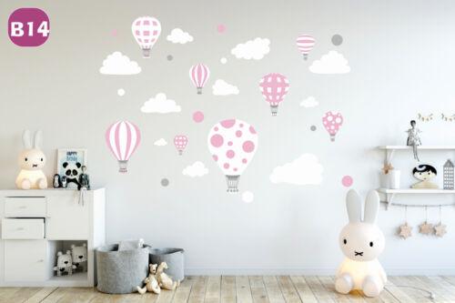 Murale Enfants Bébé Autocollant Ballons ballon Nuages NUAGE babyzimmer Kids